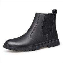 Плюс размер, мужские, повседневные, пропускающие воздух; обувь «Челси» в джентльменском стиле обувь из натуральной кожи черная обувь с острым носком ботильоны с круглым носком; zapato; bota masculina hombre