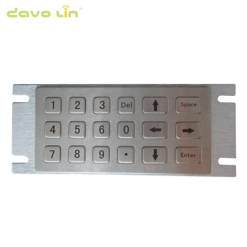 Fuel Dispenser Custom Stainless Steel Industrial Keyboard 6x3 Kiosk Metal Rugged Keypad