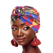 新ファッション女性アフリカパターン花ターバンイスラム教徒ターバンスカーフheadwrap化学キャップバンダナヘアアクセサリー