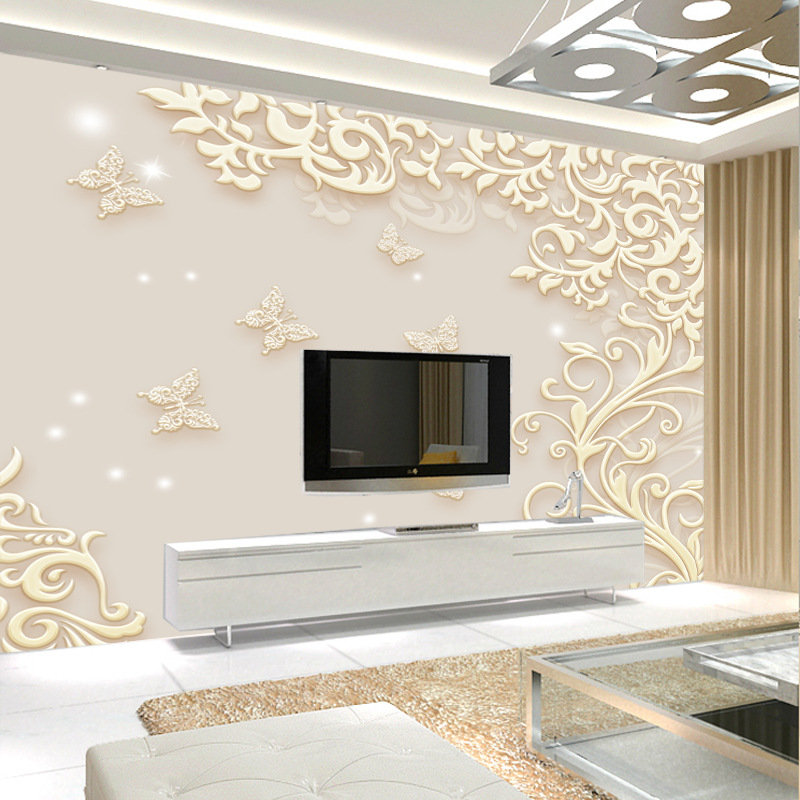 Simple European Style Decorative Pattern 3D Living Room Sofa Bedroom TV Background Wallpaper Large Mural Wallpaper Wall Cloth