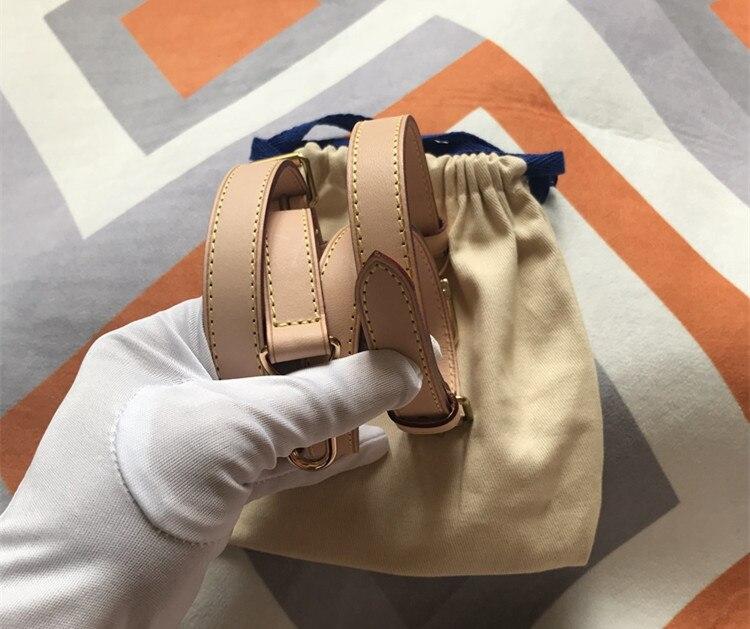 Partes de bolsos y accesorios bolsos de marca correa de cuero genuino longitud 115cm bolso de alta calidad de cuero curtido vegetal correa de hombro - 4