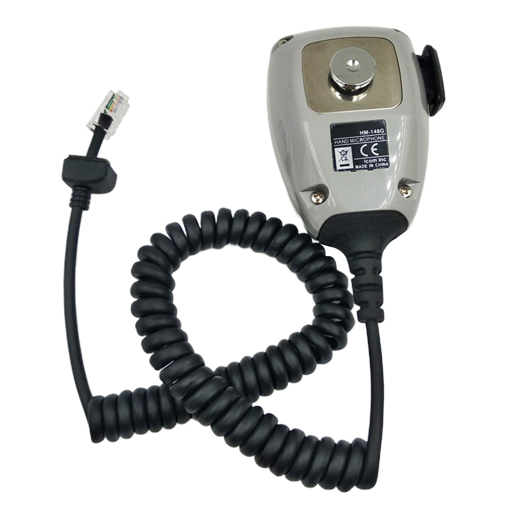 HM-148G ABS Ham Mic Car Mounted Self Grounding With Screw Mobile Radio Durable Communication Speaker Handheld For ICom Series