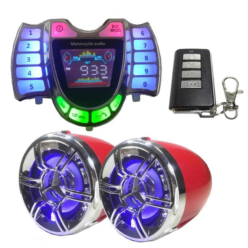 Sistema de sonido Bluetooth para motocicleta, fabricación elaborada, duradero, resistente al agua, altavoces estéreo, cargador de Radio USB Kalen, Nueva joyería única para hombre, pulsera de amuleto de motocicleta de acero inoxidable, brazalete de cuero duradero Rock Punk, regalo barato genial