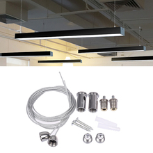 Lighting-Fittings Steel-Cable Office for Various-Panel-Lights Used-Widely 2-Wires/Set