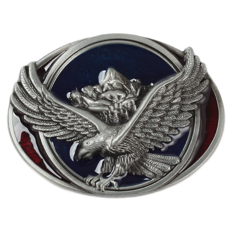 Eagle/Vulture  Pattern Belt Buckle Handmade Homemade Belt Accessories Waistband DIY Western Cowboy Rock Style K43