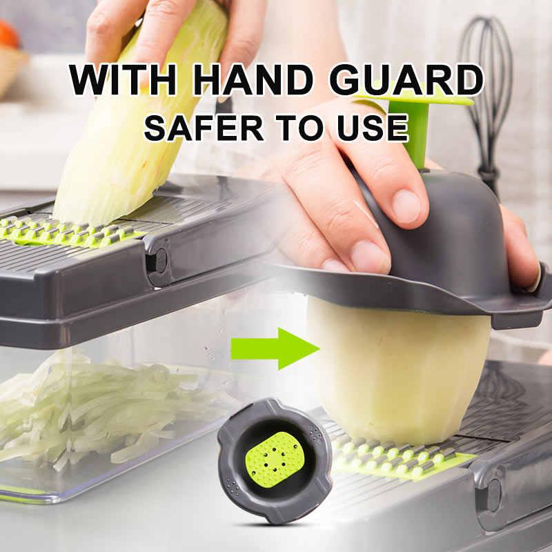 Multifunktionale Gemüse Cutter 7 Würfeln Klingen Mandoline Slicer Karotten Schäler Kartoffel Käse Reibe Chopper Küche Zubehör
