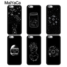 MaiYaCa Aesthetic Space Stars Planet Phone Case For iPhone 5 6 6s 7 8 plus 11 Pro X XR XS Max Samsung galaxy S7edge S8 S9 S10(China)