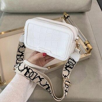 Куини модная сумка с узором «крокодиловая кожа», экокожа (полиуретан), кожаная Камера сумка с клапаном сумка через плечо сумка для 2020 с велик...