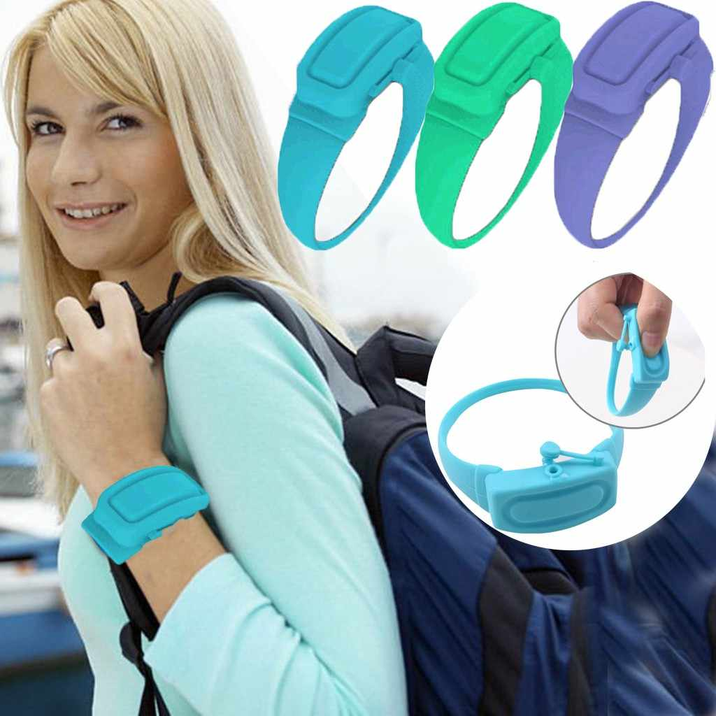 Gelang Silikon Gelang Tangan Dispenser Wearable Dispenser Pembersih Tangan Pengeluaran Fashion Bersih Alat Tangan Gelang