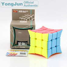 YongJun King Horn 3x3x3 Magic Cube YJ 3x3 Professional Neo Speed Puzzle Antistress Educational Toys For Children yongjun diamond symbol 3x3x3 magic cube yj 3x3 professional neo speed puzzle antistress fidget educational toys for children