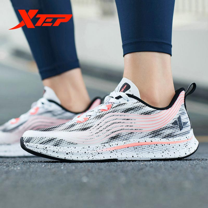 Xtep Ultra-light Women Running Shoe Summer New Mesh Light Breathable Sports Shoes Running Sneakers 981218110303