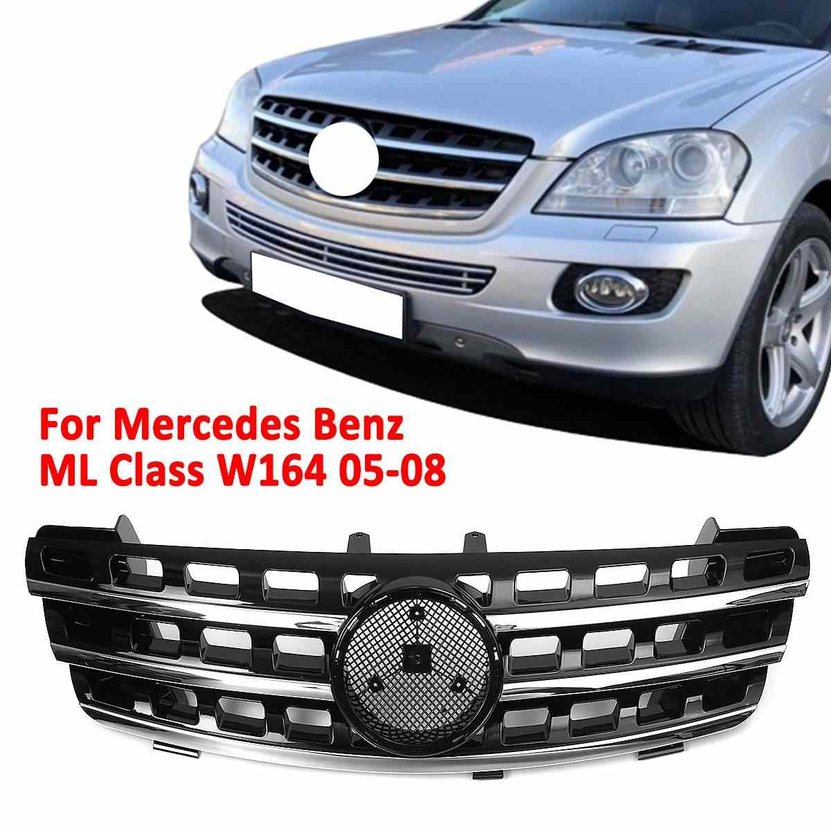 Front Bumper Upper Grill Grille Front Hood Racing Grill For Mercedes For Benz ML Class W164 ML320 ML350 ML550 2005-2008