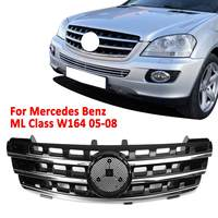 Front Bumper Upper Grill Grille Front Hood Racing Grill For Mercedes For Benz ML Class W164 ML320 ML350 ML550 2005 2008