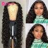 5x5 peluca con cierre de encaje pelucas de cabello humano peruano rizado para mujeres negras Pre desplumado 180 250 densidad peluca con encaje pelo alipearl peluca