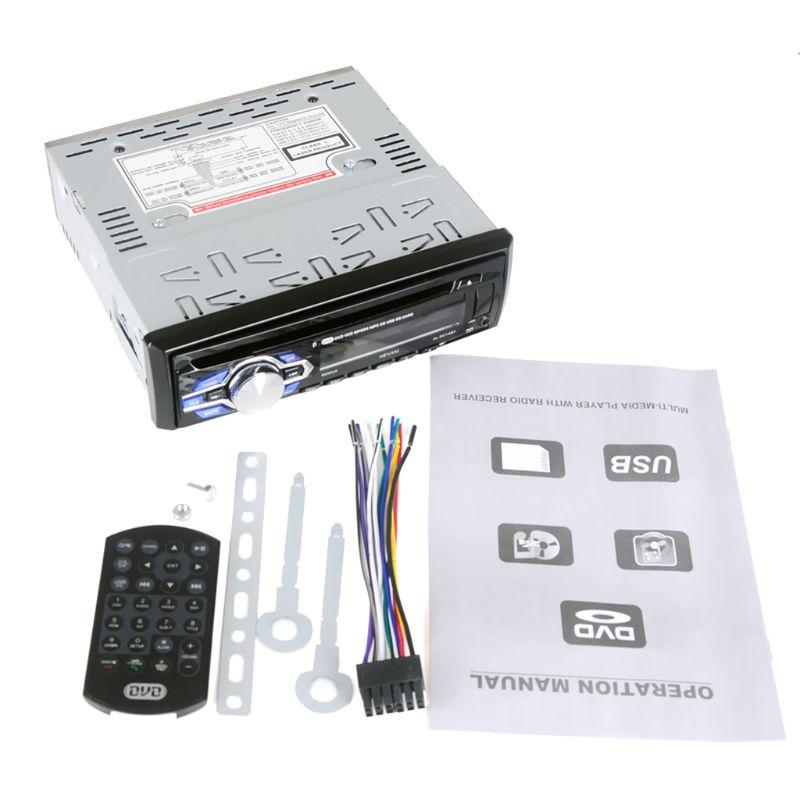 1 Din coche 12V de DVD reproductor de CD vehículo MP3 estéreo de coche manos libres Autoradio de Audio BT Kit de marco de placa para coche con Radio Estéreo 2 Din, accesorios de Interior de coche para Suzuki Grand Vitara 2005 2006 2007 2008 - 2018
