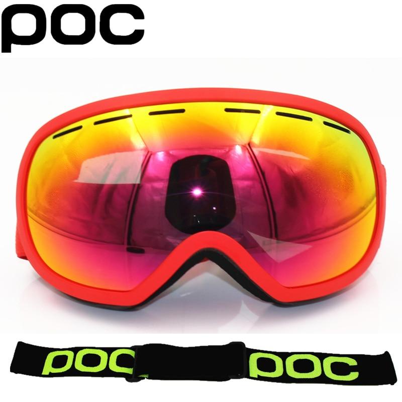 Псу бренд точку четкость Comp лыжные очки двойные слои Анти-туман Лыжная маска очки солнцезащитные очки катание на лыжах мужские и женские Горные лыжи сноуборд