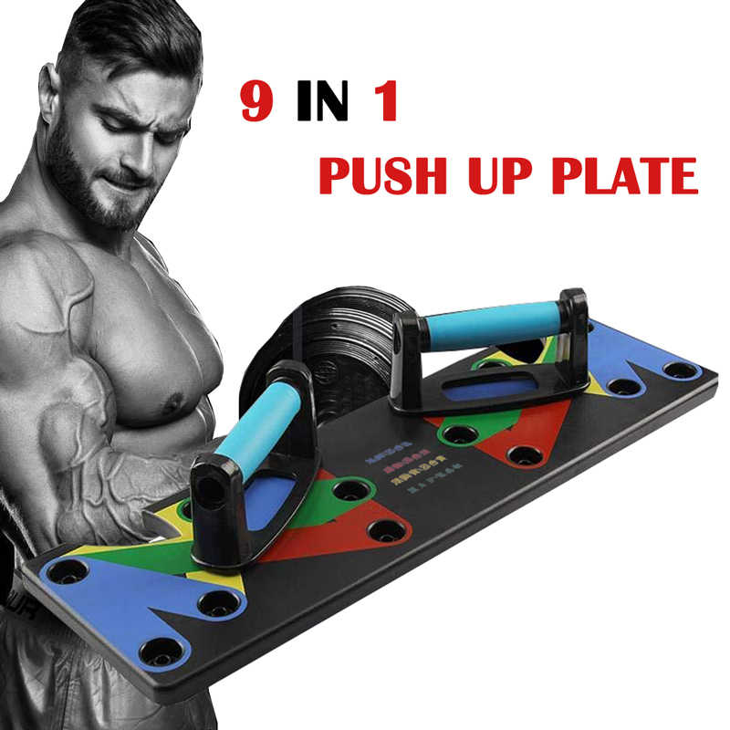 9 In 1 Push Up Rack Board Mannen Vrouwen Fitness Oefening Push-Up Stands Body Building Training Systeem Thuis gym Fitness Apparatuur