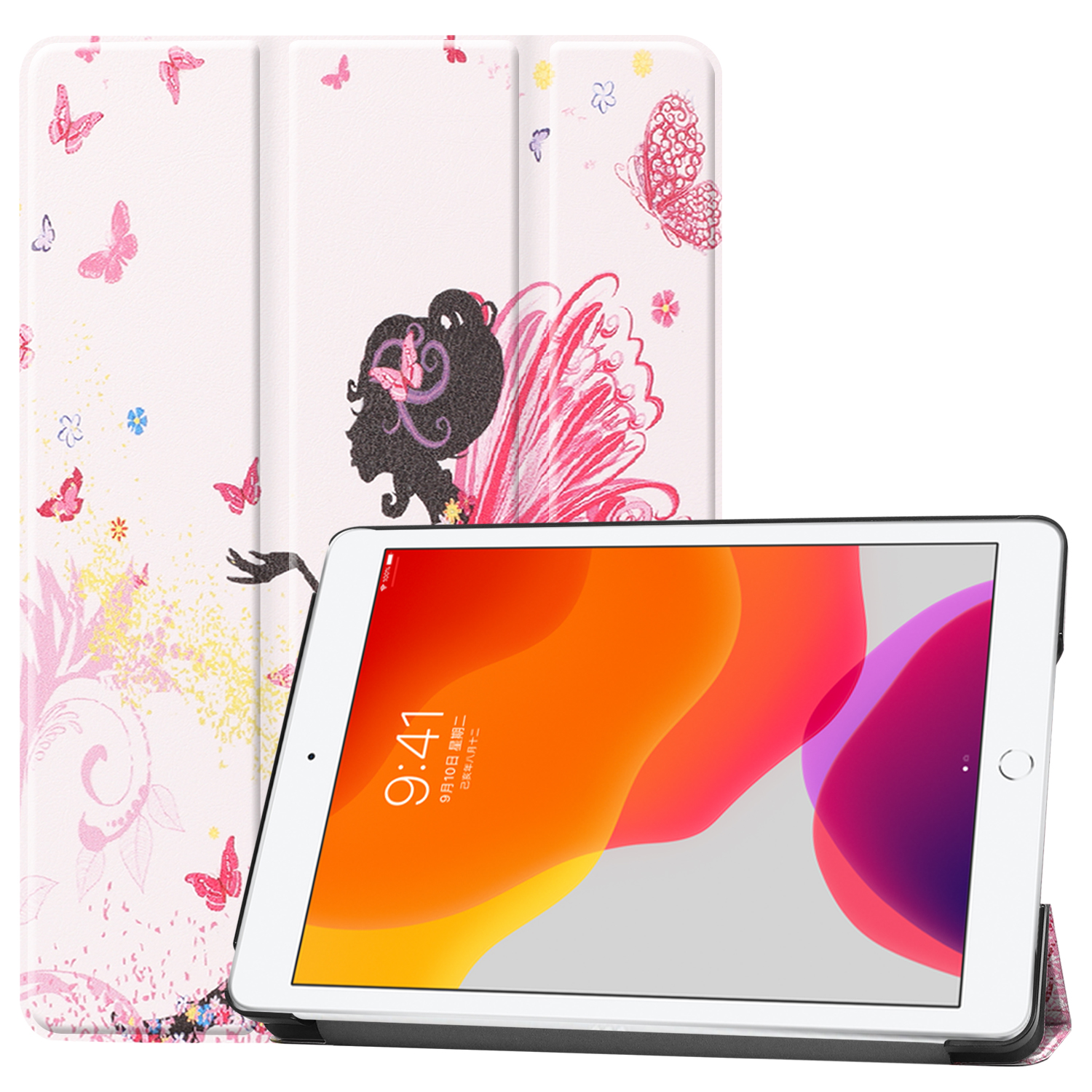 for Sleep Apple Magnetic iPad Case A2428/a2429 8-8th-Generation iPad/8th/Cas Smart-Cover