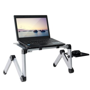 Portable Adjustable Aluminum Laptop Desk Stand Table Vented Ergonomic TV Bed laptop stand Working Office PC Riser Bed Sofa(China)
