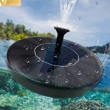 Solar Fountain Round Solar Powered Floating Bird Bath Garden Decoration Pond Decoration Summer Waterfall Fountain