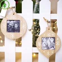 2019 Innovative Christmas Decorations DIY Wooden Hanging Frames Pendant Modern Photo Gifts