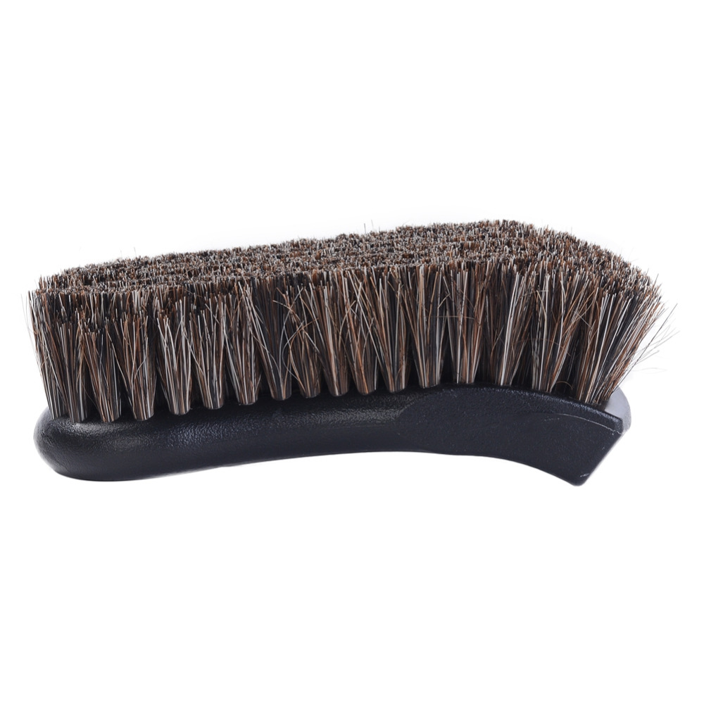 Car Cleaning Brush Automobile Care Horsehair Interior Cleaning Brushes For Leather Vinyl Fabric 1 Piece
