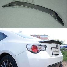 Car Styling FRP fiberglass +carbon Fiber Unpainted Color Rear Spoiler Wing Trunk Boot Lid Cover For Toyota GT86 For Subaru BRZ for toyota gt86 subaru brz carbon fiber big gt spoiler wing auto car trunk with brackets high quality good price