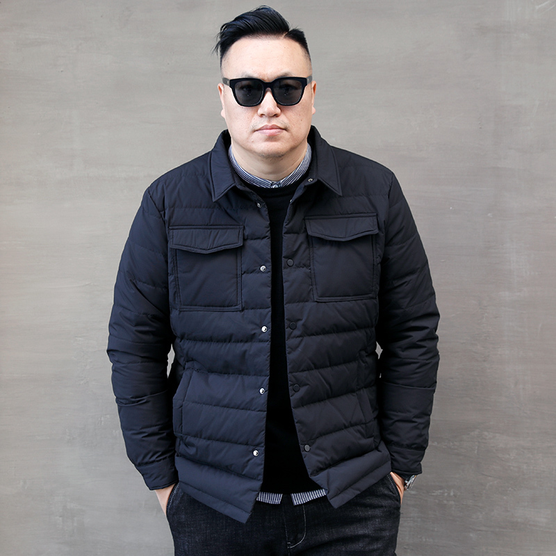 White Men's Duck Down Jacket Winter Coat Men Short Korean Plus Size Puffer Jacket Men Warm Parka Casaco 8822 YY1333