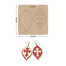 Die-Cut-Crafts Earring Wooden Compatible Mold with Scrapbooking SMVAUON