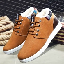 Coslony boots men winter warm fur outdoor casual shoes tooling single shoes British boots men's shoes snow boots sneakers men