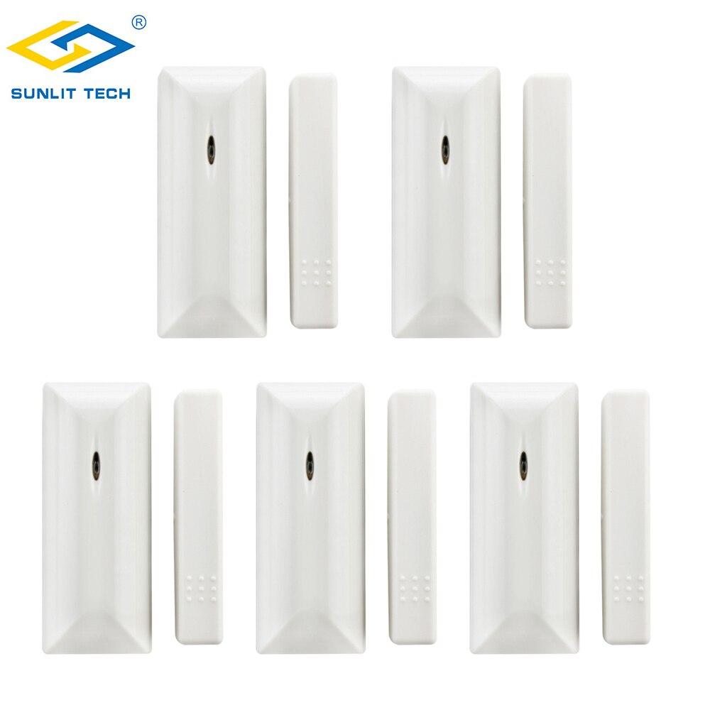 5pcs Wireless Door Window Sensor Alarm System For Focus Home Security 433MHz/868MHz Magnetic Switch Detector Door Open Sensor