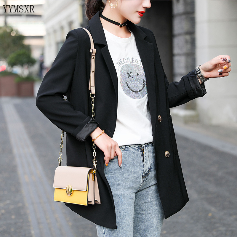 Elegant lady office jacket feminine small suit 2020 new spring and autumn high quality loose women's blazer Temperament Coat
