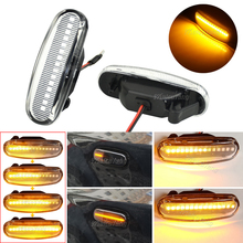 2Pcs Dynamische LED Seite Marker Licht Repeater Blinker Lampen Für Abarth Grande Panda 199 Fiat Punto Evo Idee 350 Fiorino 225