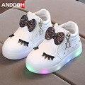 Детская светящаяся обувь для девочек; детская обувь со светодиодной подсветкой; милые детские светящиеся кроссовки; Детские повседневные к...