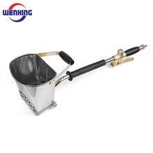 WENXING Spray Gun for Painting Walls Cement Mortar Sprayer Spray Gun Hopper Gun Render Sprayer Hopper Bucket Gypsum Gun 64cm