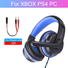 For PS4 XBOX Gaming Headset PC Gamer Wired Headphone With Microphone Computer Stereo Bass Cascos Music Audifonos For Phone Girl logitech g433 wired headphone x 7 1 surround gaming headset for pc ps4 xbox computer peripheral accessories