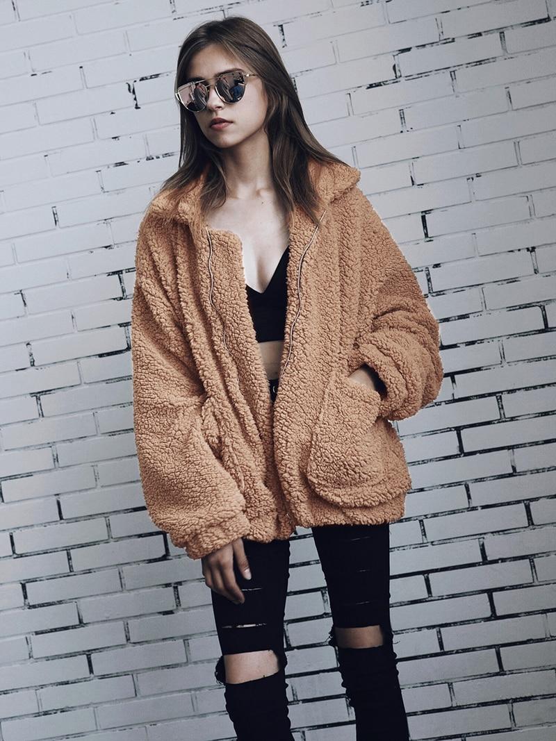 He1c4ce9ec0c04cb9a7705a35405039f4U Autumn winter jacket female coat 2019 fashion korean style plus size women teddy fur coat female casual jacket woman pusheen