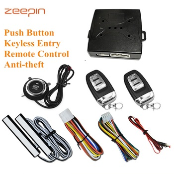 Zeepin A6-una entrada sin llave sistema de arranque antirrobo alarma de seguridad del coche botón de inicio del motor pulsar con Control remoto automático