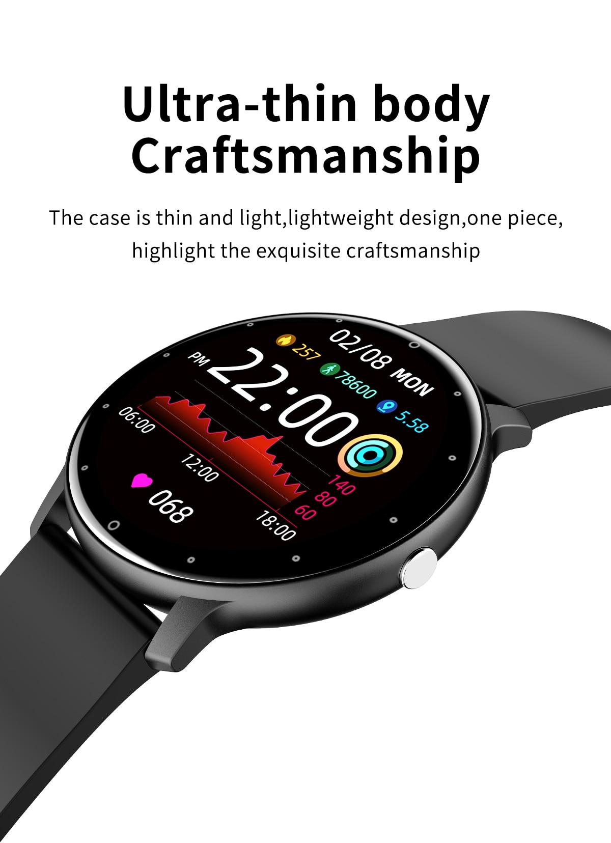 He1c4fa3a84c448dfb4cd593e6905f49dQ LIGE 2021 Fashion Smart Watch Men Fitness Bracelet Heart Rate Blood Pressure Monitoring Sports Tracker Smartwatch Gift for Women