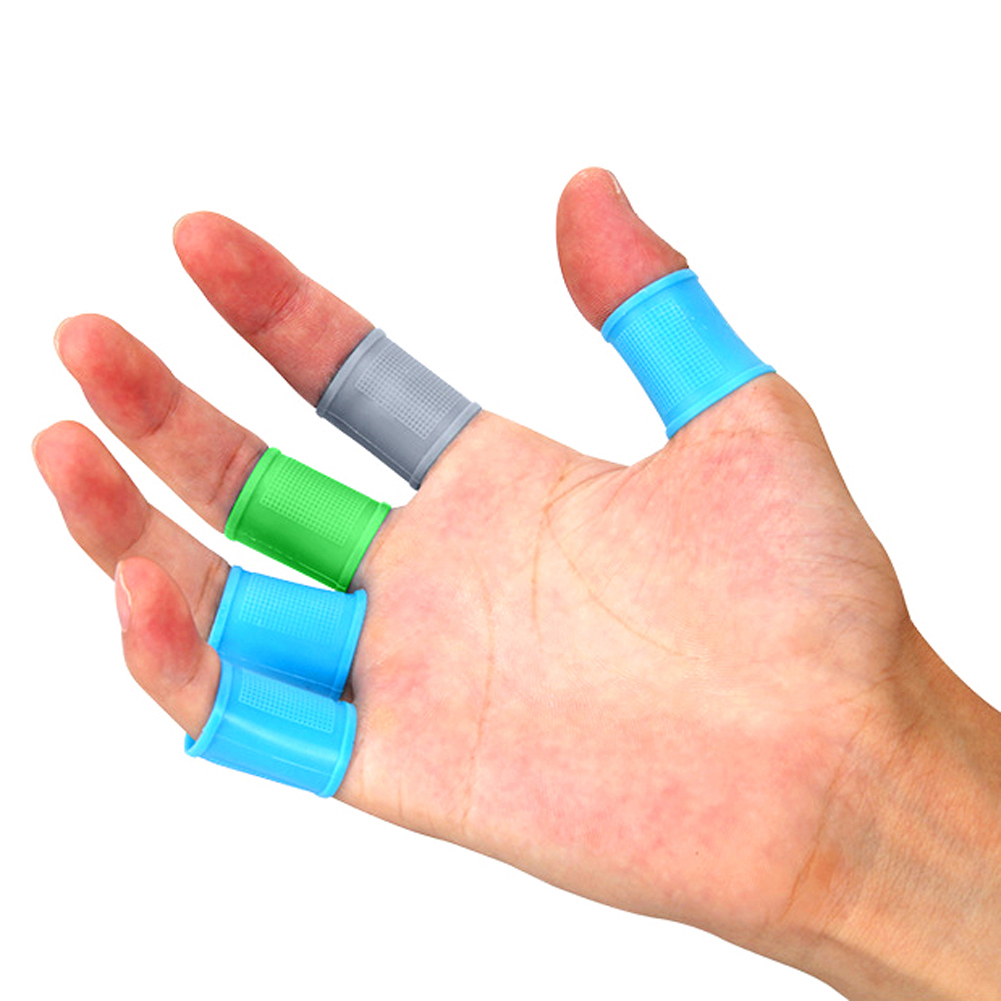 8pcs Golf Finger Toe Silicone Support Sleeves Protector Grip Multi Color For Men Women NEW
