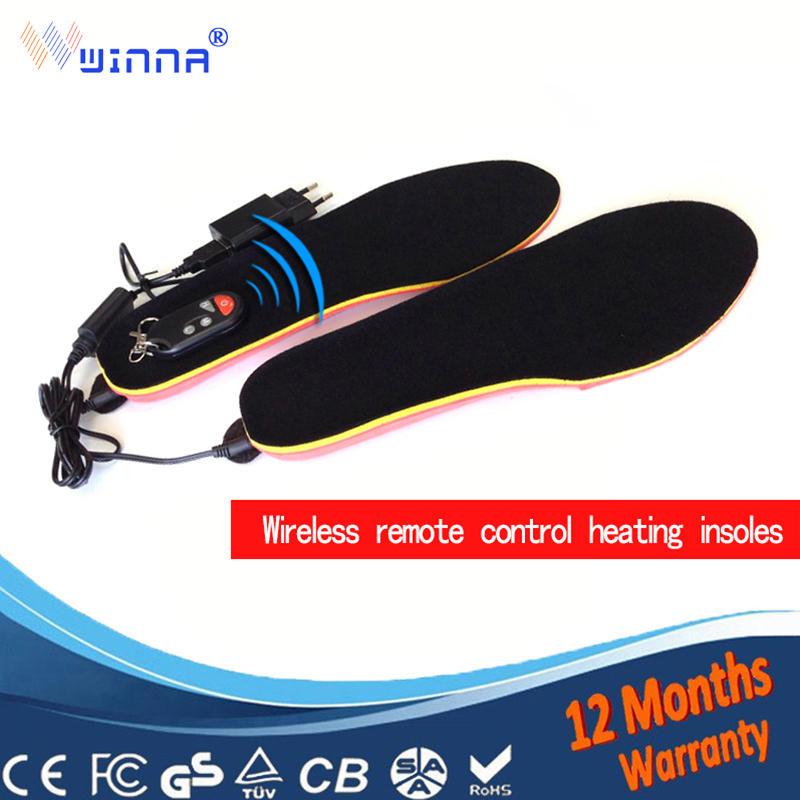 Outdoor heating insoles with battery remote control insoles keep feet warm comfortable insole SIZE EUR 35 46 FREE SHIPPING-in Insoles from Shoes    1
