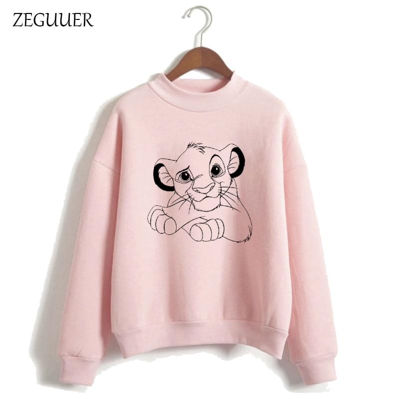 HAKUNA MATATA The Lion King Kawaii Print Hoodies Pink Hoodies Women Harajuku Sweatshirt Clothes Streetwear Hipster Women Hoodies
