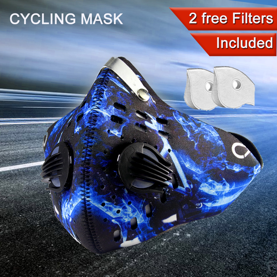 GLORSUN Riding Mask Fashion Custom Smog Pm2.5 Air Filter Motorcycle Biker Half Face Breathing Anti Dust  Carbon Filter Mask