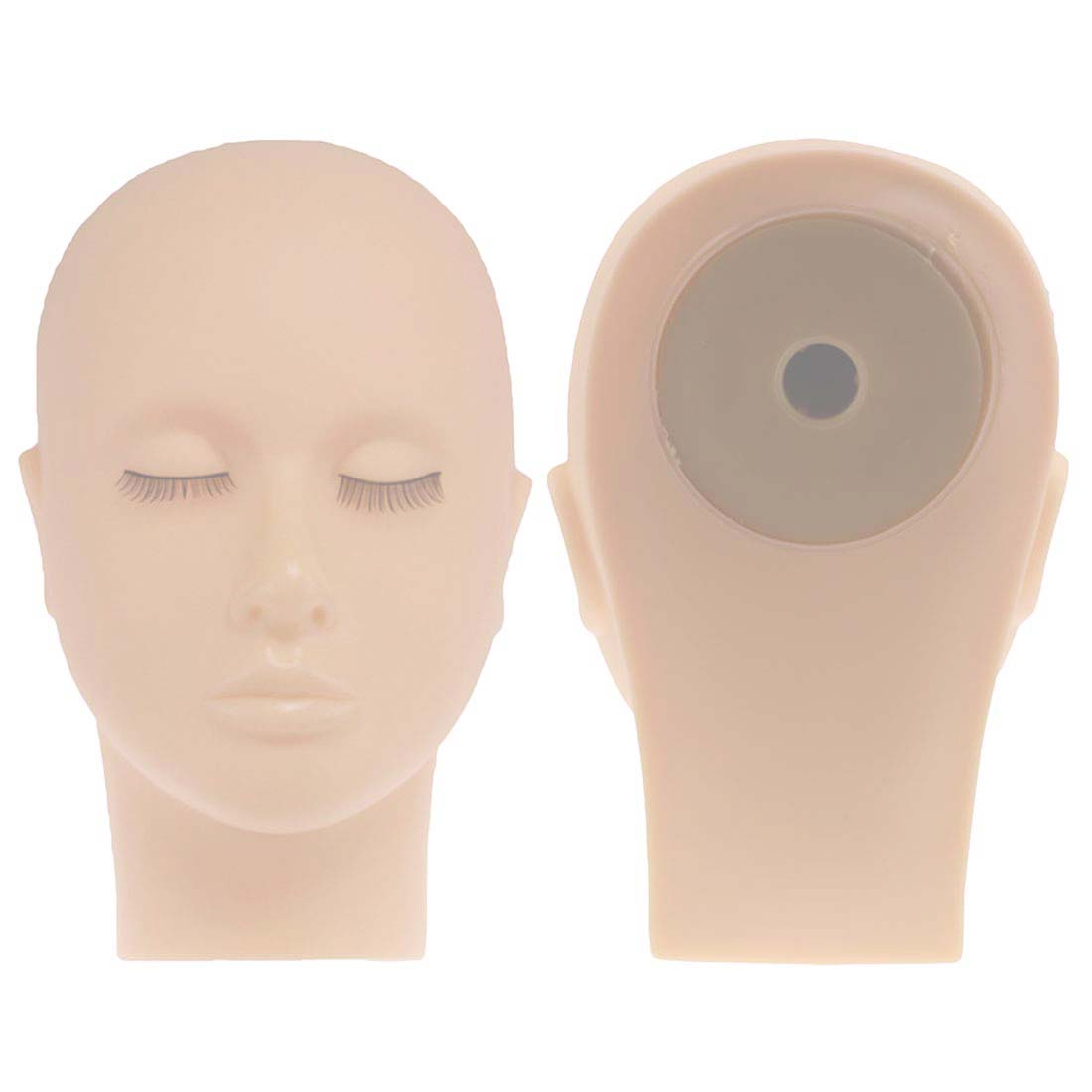 High Quality Mannequin Flat Head Silicone Practice False Eyelash Extensions Make Up Model Massage Training Heads 1pc