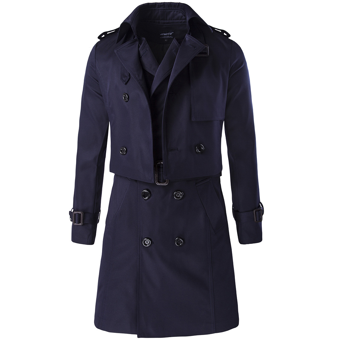 Aowofs Autumn Clothing New Style Trendy Two-Piece Set Long Double Breasted   Trench   Coat Y600