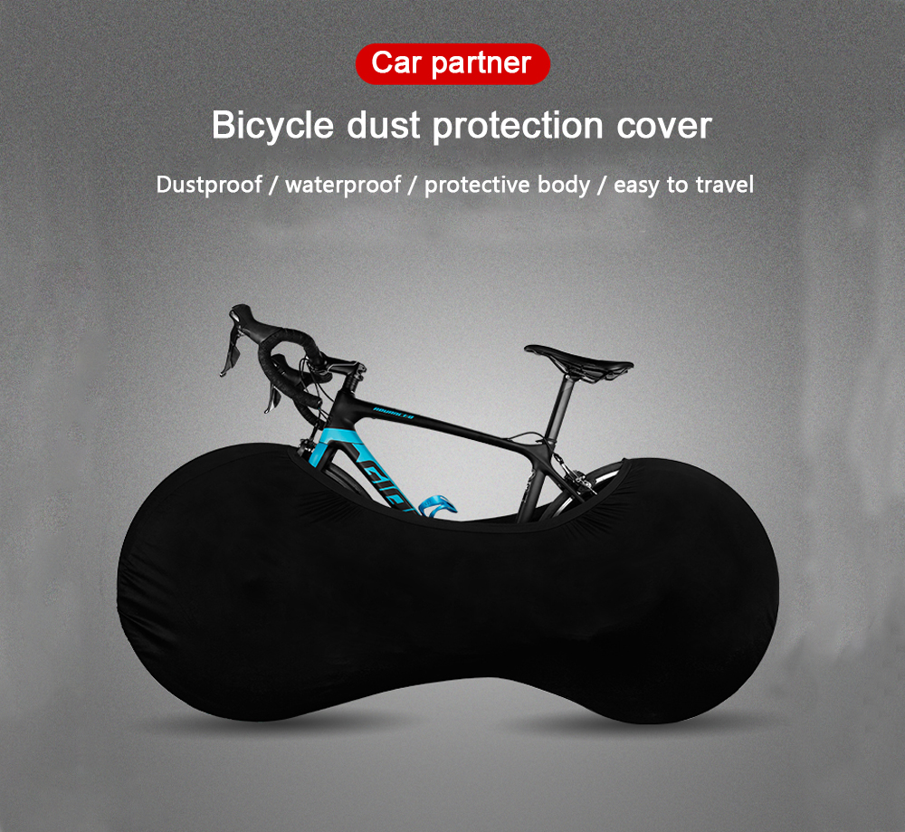 Bicycle Cover Bicycle Case Bicycle Dust Cover Mountain Bike Road Car Wheel Cover All Black Universal Bike Accessories