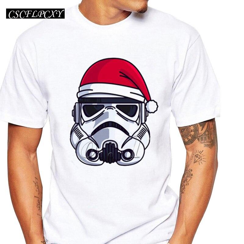 Darth Vader Lettering Men Comics T-shirt Christmas Stormtrooper Minimalist Funny Design Male Tops Short Sleeve Star Wars Tee