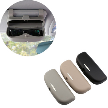 2019 1pc Glasses Case Organizer Box Sunglasses Holder Storage Pockets Car Portable Hanging Eye Storage Box Sponge Filling image