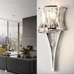 Kryształowa naścienna led lampa kinkiet światła luminaria oświetlenie domu salon nowoczesne ściany światła abażur do łazienki w Wewnętrzne kinkiety LED od Lampy i oświetlenie na