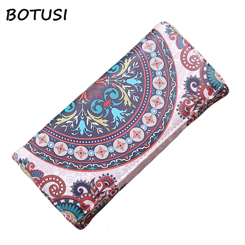BOTUSI 2018 Luxury Brand Famous Women Wallets And Purses Cash Long Wallet Female Travel Card Holder Cellphone Clutch Pocket